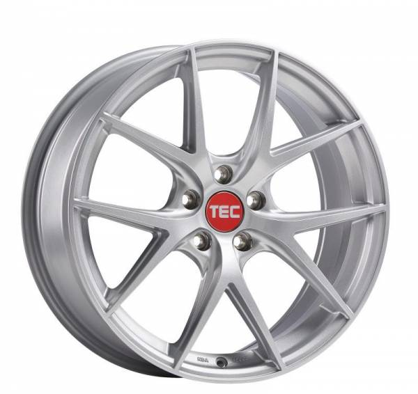 TEC GT6 EVO bright-silver Felge 8x19 - 19 Zoll 5x112 Lochkreis