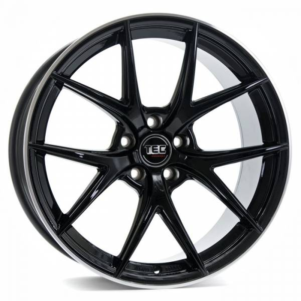 TEC GT6 black-polished-lip Felge 8x19 - 19 Zoll 5x112 Lochkreis
