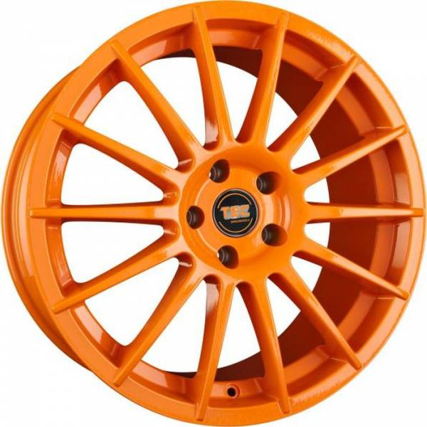 TEC AS2 race-orange Felge 8,5x19 - 19 Zoll 5x112 Lochkreis