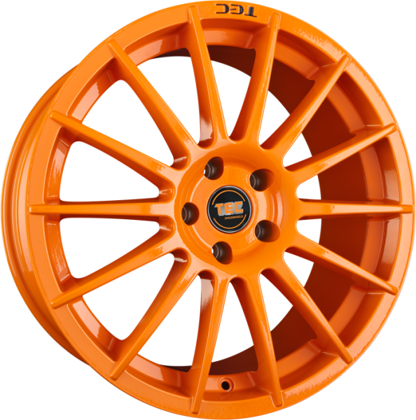 TEC AS2 race-orange Felge 8x18 - 18 Zoll 5x110 Lochkreis