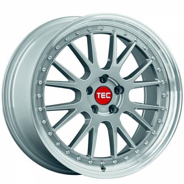 TEC GT EVO titan-polished-lip Felge 8x18 - 18 Zoll 5x108 Lochkreis