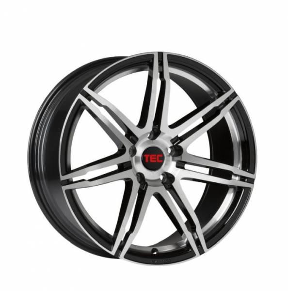 TEC GT2 black-polished Felge 8x18 - 18 Zoll 5x108 Lochkreis