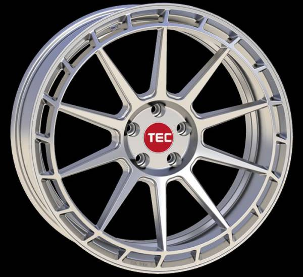 TEC GT8 hyper-silber Felge 8,5x19 - 19 Zoll 5x112 Lochkreis