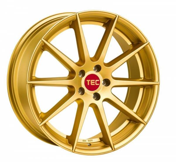 TEC GT7 gold Felge 10x20 - 20 Zoll 5x114.3 Lochkreis