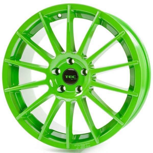 TEC AS2 race-light-green Felge 7x17 - 17 Zoll 4x98 Lochkreis