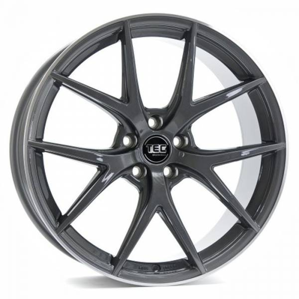 TEC GT6 dark-grey-polished-lip Felge 8x19 - 19 Zoll 5x112 Lochkreis
