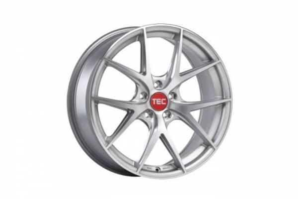 TEC GT6 EVO silver-polished Felge 8x19 - 19 Zoll 5x112 Lochkreis